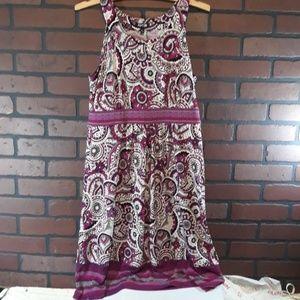 APT.9 tank style calf length silky dress. Size sma